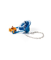 53196 - ULTRA BLUE STAR FLAPPER W/ LINK CHAIN & ATTACHMENT - 3.5GPF