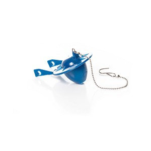 53246 - BLUE FLAPPER W/ BEADED CHAIN - 3.5GPF